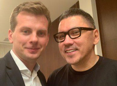 Группа Жуки с агентом BnMusic в Москве на частном мероприятии