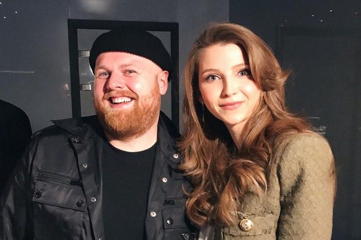 Tom Walker с агентом BnMusic в Москве на частном мероприятии
