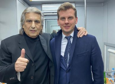 Toto Cutugno на корпоративе в Москве
